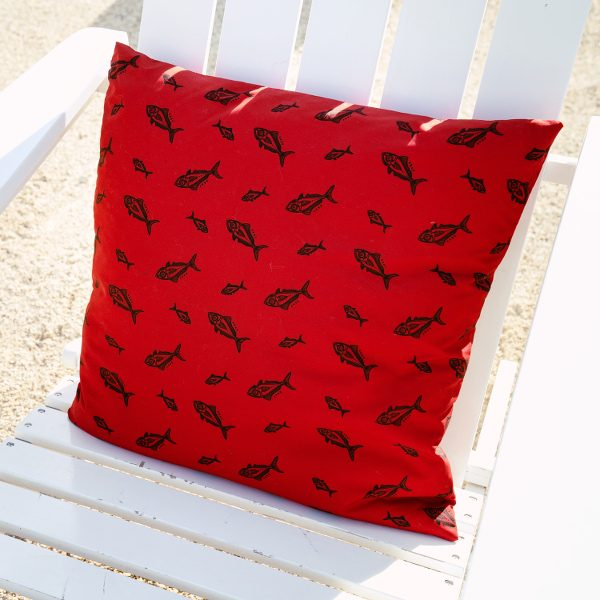kahala fish pillow recycled polyester
