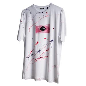 Eduardo T-Shirt 100% Organic Cotton | Hand-painted by Eduardo Bolioli (Fuchsia, Violet)