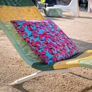 Monstera & Fish Pillow | Chill down in Makakilo