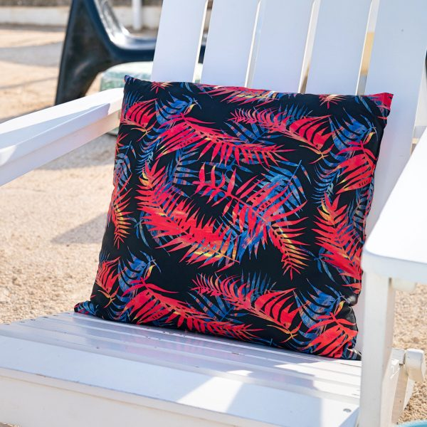 night palms pillow recycled polyamide