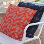 palms mermaids pillow recycled polyester viscose