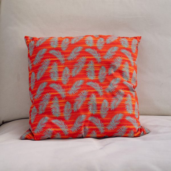 palms pillow recycled polyester