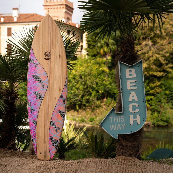 No-Made Board – Surfboard hand-painted by Eduardo Bolioli