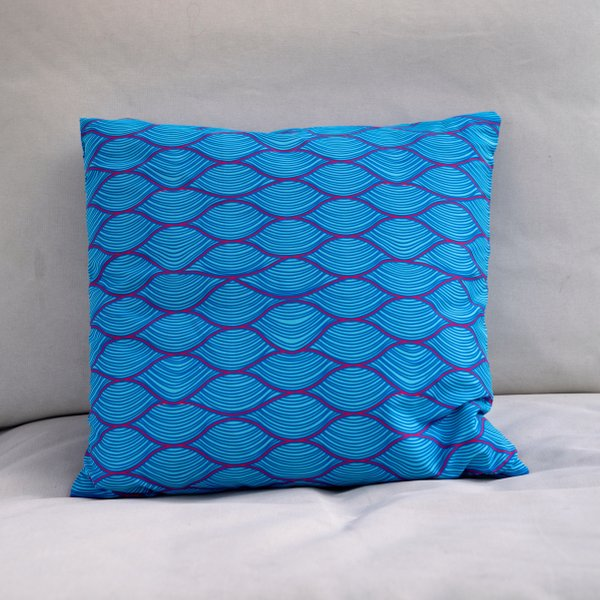 wave pillow seay recycled polyester