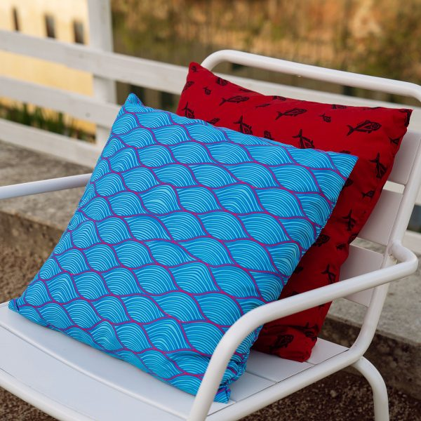 wave kahala fish pillow recycled polyester