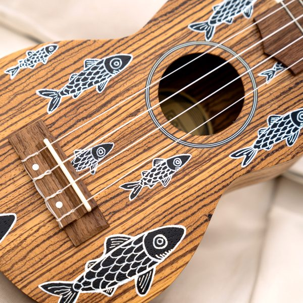 Tropical Pizza / Oqan Soprano Ukulele Quk-15sz – Hand-painted by Eduardo Bolioli