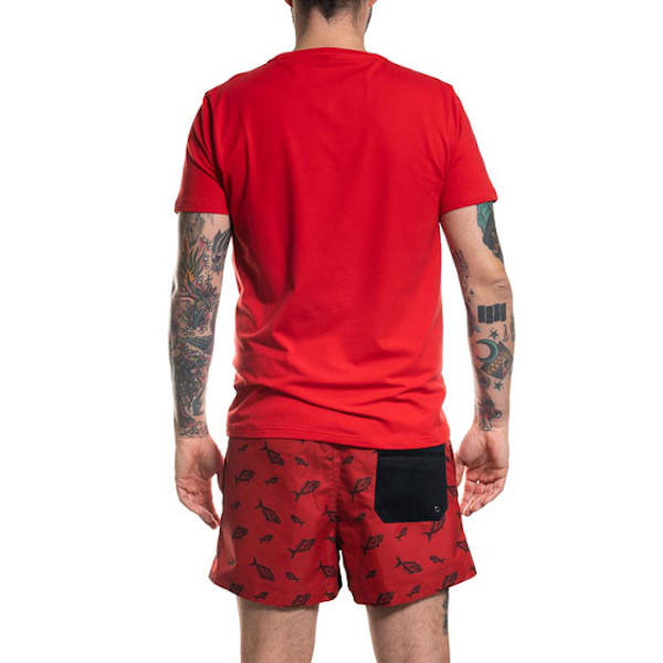 kahala t-shirt back red