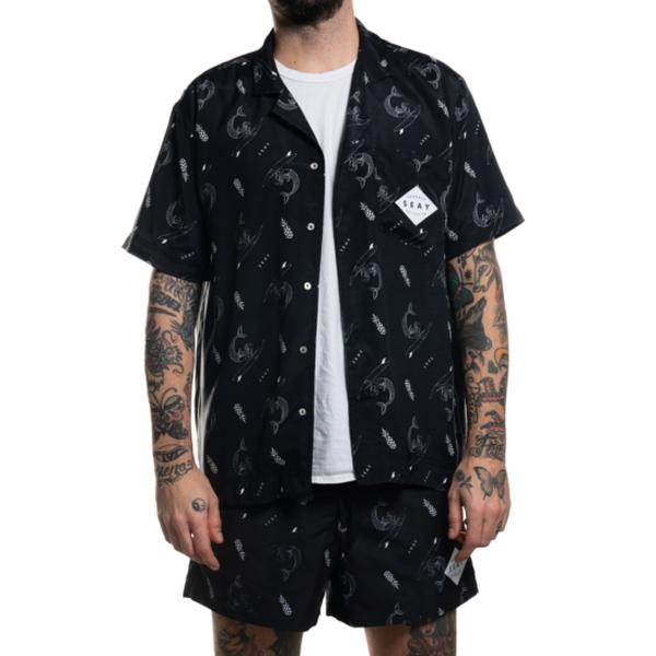 SEAY Hawaiian Short Sleeve Shirt Mermaid<br> 100% Viscose
