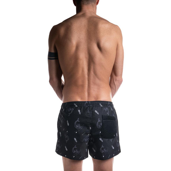 mermaid short boxer back