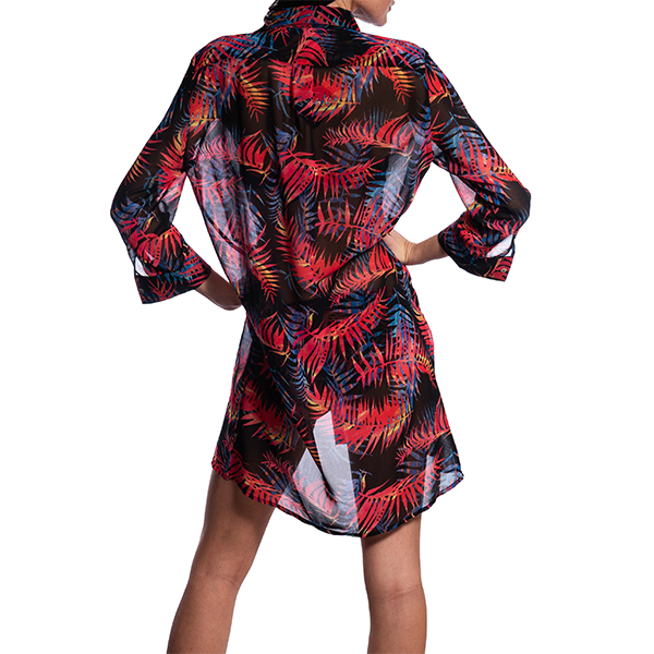 SEAY Maxi Shirt / Dress Night Palms<br> 100% Polyester