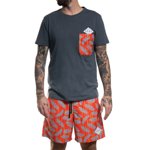 SEAY T-Shirt Palms<br> 100% Organic Cotton