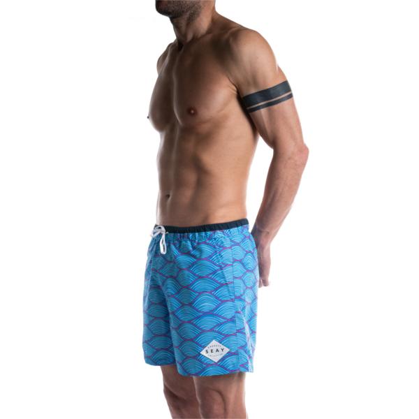 SEAY Swim Boxer Medio Waves<br> Poliestere 100% Riciclato