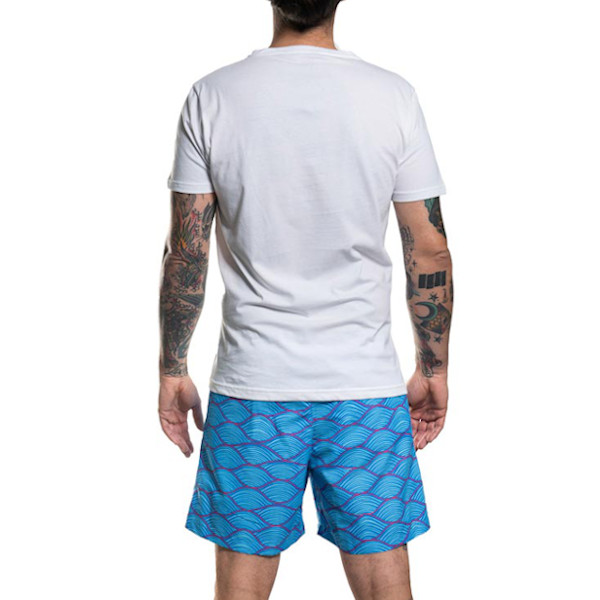 waves t-shirt back