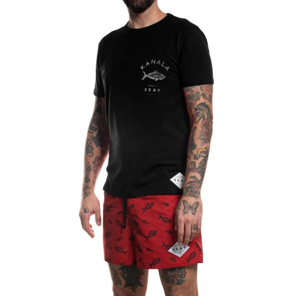 SEAY T-Shirt Kahala Fish Black<br> 100% Organic Cotton