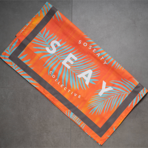 SEAY Beach Towel Palms<br> 80% Polyester / 20% Polyammide