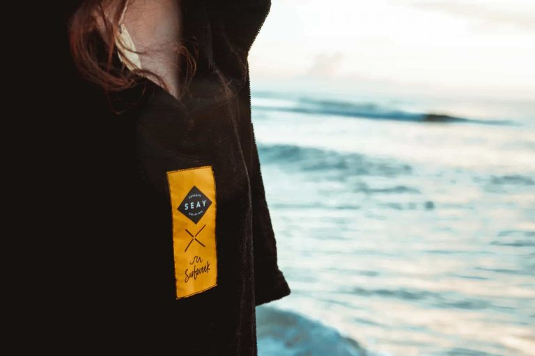 poncho after surf kitesurf mens women seay sustainable clothing