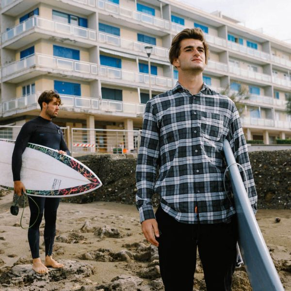 Checked Cotton Flannel Shirt<br>SEAY x Etesia