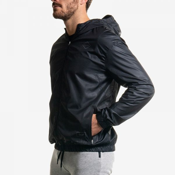 Gradient Windbreaker Nero