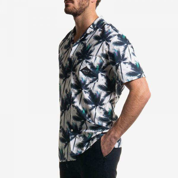 Hawaiian Shirt White Palms