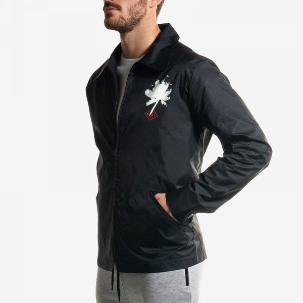 Zip Jacket Nero Palms