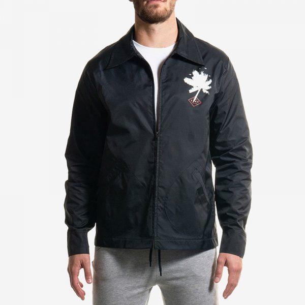 Zip Jacket Black Palms