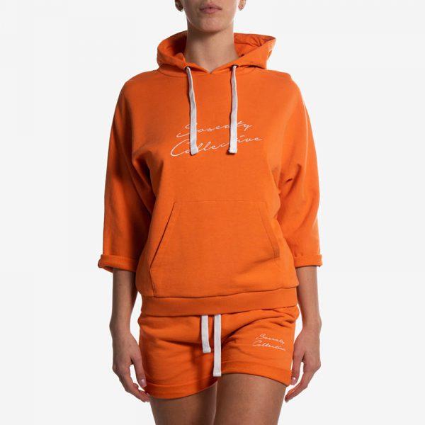 Felpa con Cappuccio Yoga Arancione