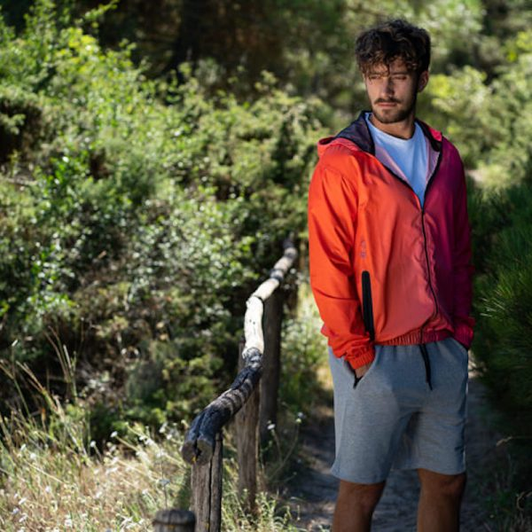 Gradient Windbreaker Arancione