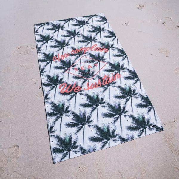 Beach Towel White Palms
