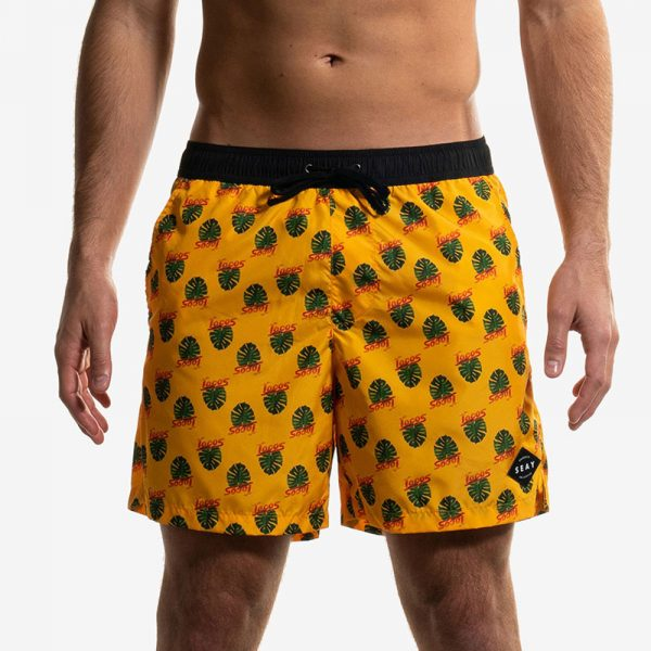 swim boxer medium medio yellow monstera front