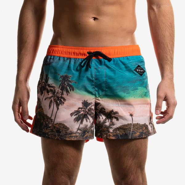 swim boxer short corto tropical front