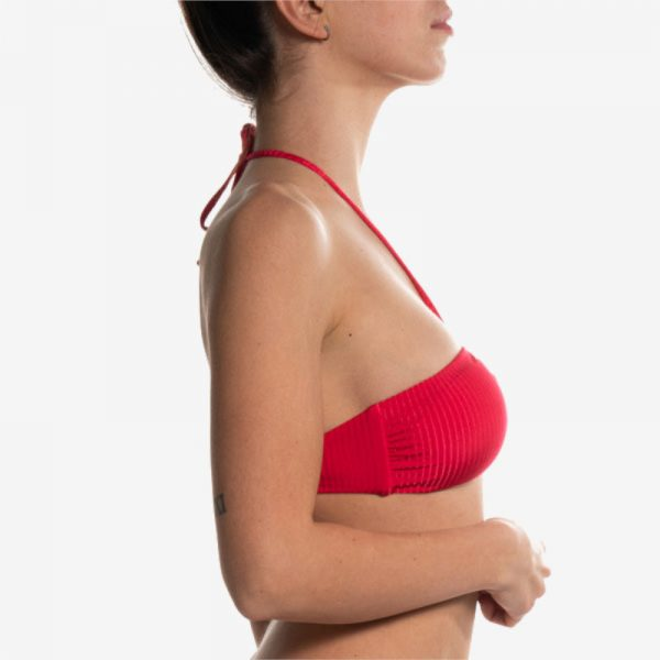 Removable Padded Bandeau Red