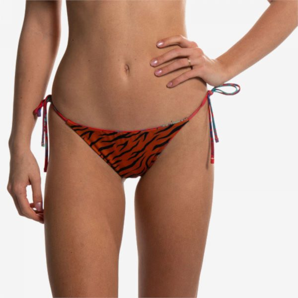 Slip Reversibile Red Flower Orange Tiger